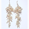 swarovski pearl cluster earrings