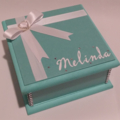 Elegant Turquoise Keepsake Trinket Treasure Jewellery Memory Bridal Wooden Box