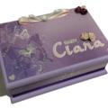 Butterflies Baby Keepsake Trinket Treasure Memory Wooden Box