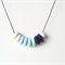 Polymer clay necklace mint marble and navy beads