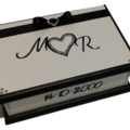 Wedding Wishes Keepsake Trinket Treasure Jewellery Memory Wooden Box