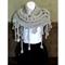 Knitted Scarf Wrap, Gypsy Bohemian Wool Shawl, Chunky Soft Boho Cowl Warm Winter