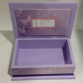 Butterflies Baby Keepsake Trinket Treasure Memory Wooden Box