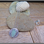 SUMMER MEMORIES,SEA GLASS / STERLING SILVER NECKLACE