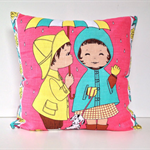 Girl Cushion cover Kitsch pillow retro vintage decor boy friend