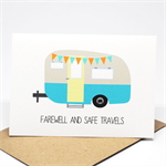 Bon Voyage Card - Caravan Camper Farewell - BON013 / Farewell and Safe Travels