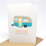 Retirement Card - Caravan Camper Retirement with Bunting - OYR008