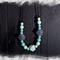 Silicone beaded necklace - Aqua stone