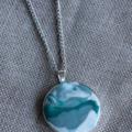 Ocean green clay pendant