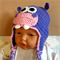 Crochet Newborn Beanie, Crochet Hippo Beanie , Baby Beanie, Baby Photo Prop Hat,