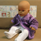 Knitted Baby Jumper, Purple Toddler Sweater, Childrens Wool Cardigan, Handmade B