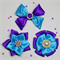 Beautiful satin hair clip set (3) - Custom Made in your choice of colors