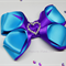 Beautiful satin bow hair clip - Custom Made in your choice of colors