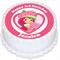 Strawberry Shortcake Personalised Round Cake Topper - PRE-CUT