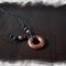 Silicone beaded necklace - bronze disc