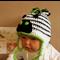 Baby Beanie, Crochet Toddlers Zebra Beanie, Crochet Newborn Beanie, Baby Photo