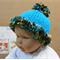 Knitted Baby Hat, Baby Beanie, Chunky Hat With Pom Pom, Photo Prop