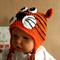 Baby Beanie, Crochet Tiger Beanie, Crochet Newborn Beanie, Baby Photo Prop Hat,