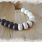 Silicone beaded necklace - Cookies & Cream