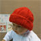 Knitted Baby Hat, Red Baby Beanie, Chunky Wool Hat, Photo Prop