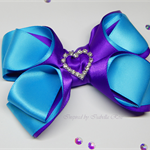 Satin double bow hair clip - Custom Made in your choice of colors
