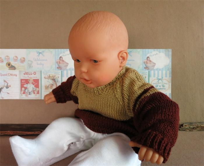 Baby Gifts Australia Melbourne : Knitted baby jumper brown tan toddler sweater handmade