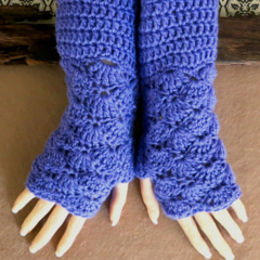 Fingerless Gloves Boho Lace Kitted Gothic Burlesque Winter Glove Ladies Women