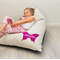 Personalised Kids Bean Bag - Purple Butterfly