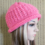 Crochet Hat, Womens Hat, Chunky Pattern Beanie Cuff, Melon Beanies Crochet Wool