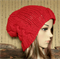 Womens Knit Hat, Cable Slouchy Beanie, Chunky Womens And Mens Red Knit beanie