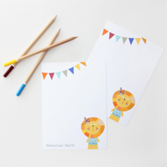 Set of 18 Personalised Flat Note Cards. Many designs to Choose from!