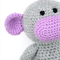 **'Millicent' the Crochet Monkey - grey & purple - *READY TO POST*