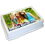Photo Personalised A4 Edible Cake Topper