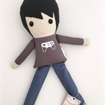 One for the Gamers!. Ready to ship Koko & Joey cloth doll