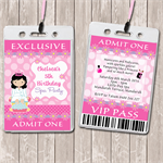 Pamper Spa Party Personalised VIP Lanyard Invitations x 10