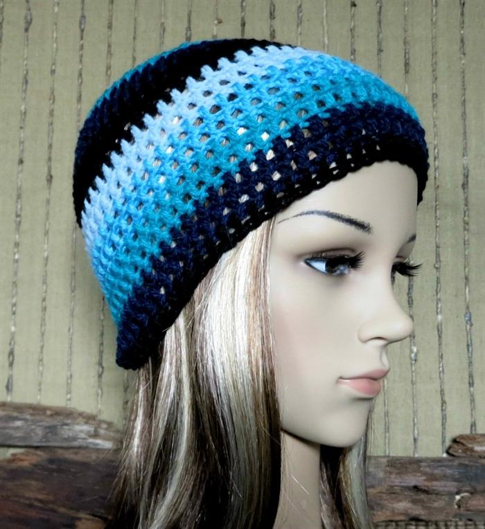 Crochet Hat Womens Mens Crochet Beanie Student Winter Wool Hat