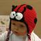 Baby Beanie, Crochet Toddlers Ladybug Beanie , Crochet Newborn Beanie, Baby