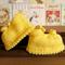 Knitted Girls Shoes, Yellow Baby Booties Chunky Girls Sandles, Newborn Wool shoe