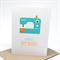 Birthday Card Female - Turquoise Sewing Machine - HBF155