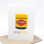 Australia Card - Vegemite Jar - AUS014 - G'Day from Australia.