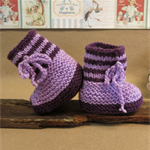 Baby Knitted Booties, Purple Newborn Knitted Shoes, Baby Photo Props, Hi Top