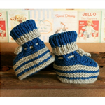 Knitted Booties, Chunky Baby Shoes, Newborn Boys or Girls Wool Hi Tops Baby Shoe