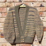 Ladies Studio Mohair jacket size 14 Olive green, charcoal & light brown