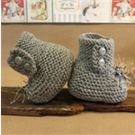 Knitted Booties, Grey Baby Shoes, Newborn Wool Hi Tops, Baby Shower Gift, Photo