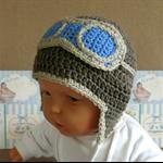 Baby Beanie, Crochet Toddlers Aviator Beanie , Crochet Newborn Beanie Baby Photo