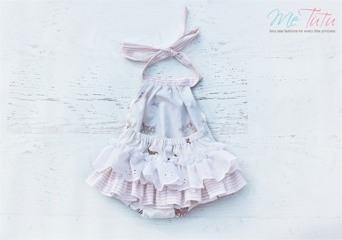 39db19d604d Vintage Shabby Chic  Bambi  Romper Play suit Baby Girl Set