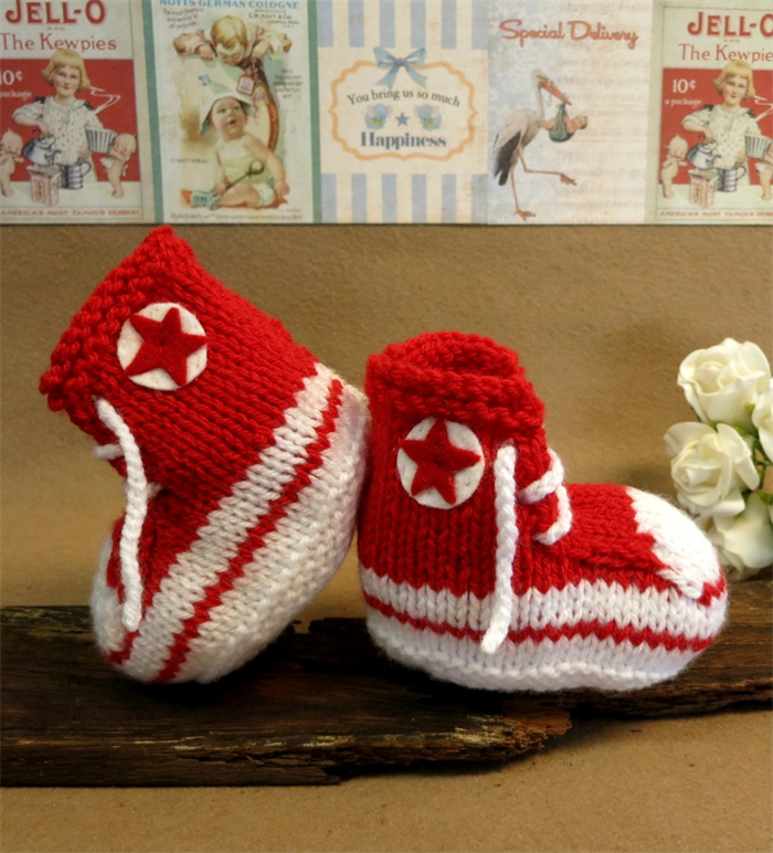 Knitted Converse Baby Booties Pattern. knitting pattern by natalija ...