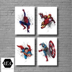 SET OF 4 SUPERHERO PRINTS - Digital Files