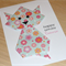 Girls Happy Birthday card - origami cat - can be personalised!