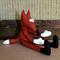 Toy Fox, Large Stuffed Felt Fox, Nursery Toy, Baby Shower Gift Tan Brown Forrest
